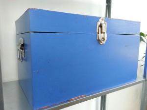 blauwe kist